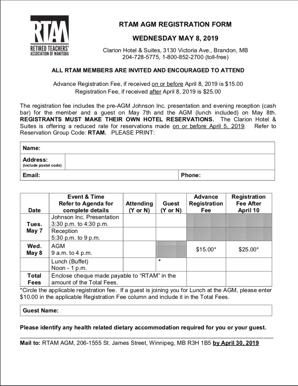 WR00258 Member Registration Form 2019