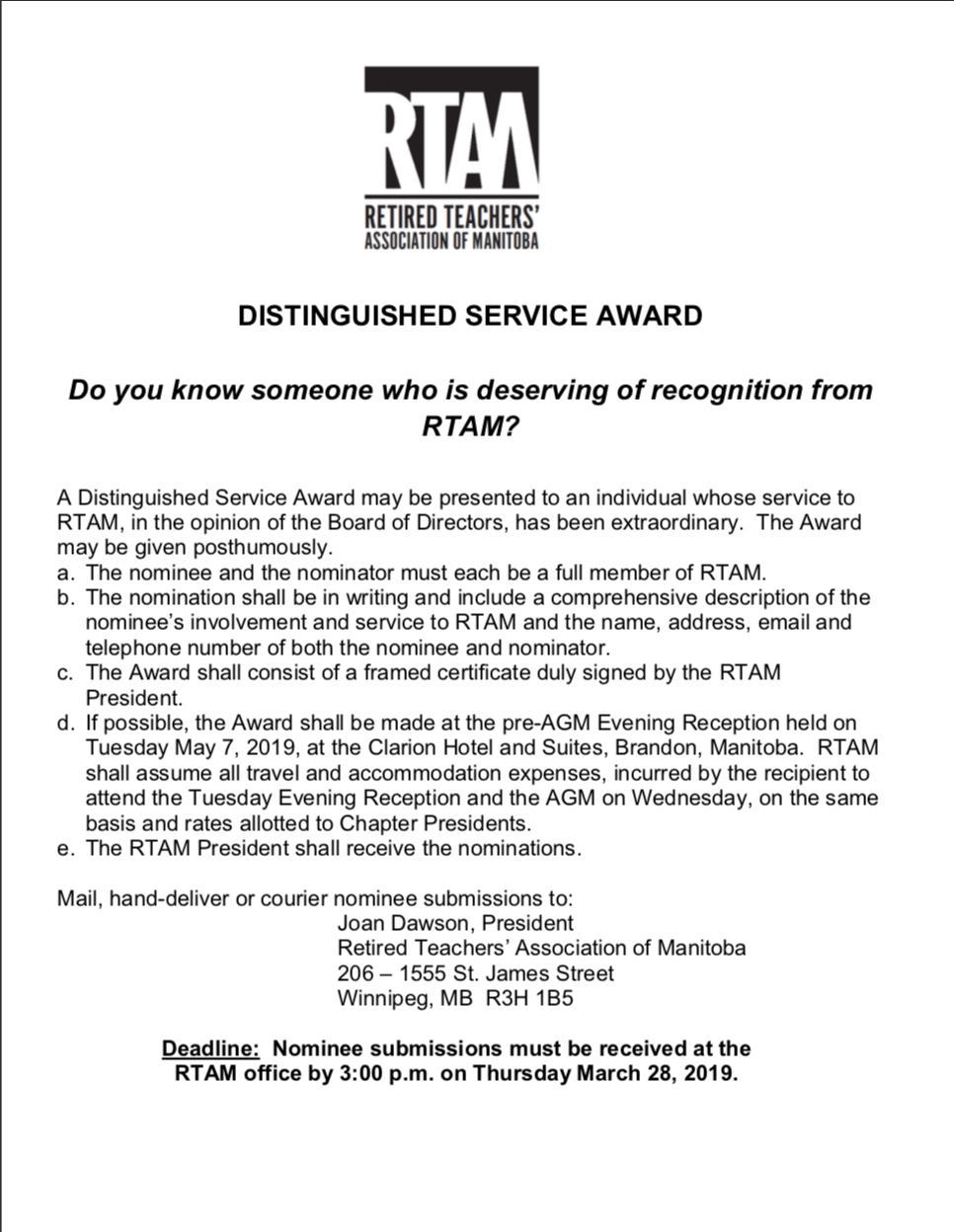 WR00261 Distinguished Service Award 2019